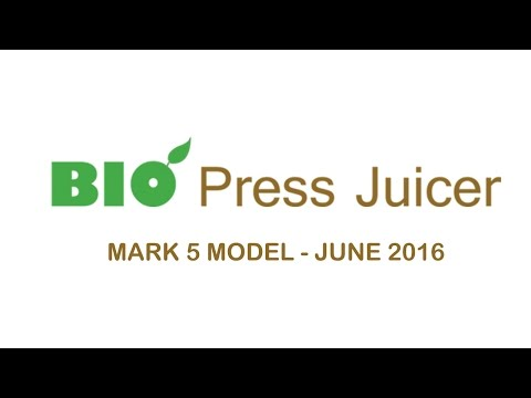 Bio Commercial Cold Press Juicer Mark 5 Model June 2016 Testing