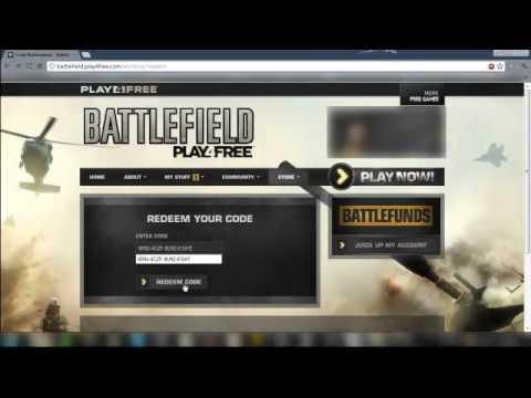 Battlefield Play4Free - Redeem Codes - Weapons Code [September]