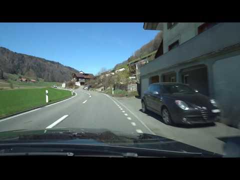 Driving from Münsingen to Jegenstorf via Krauchtal, Switzerland