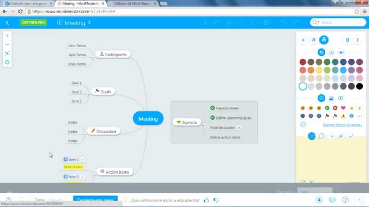 Como crear un mapa mental en mindmeister youtube for Como crear un plano