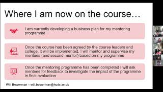 The ETF Mentor Programme - Will Bowerman HSDC