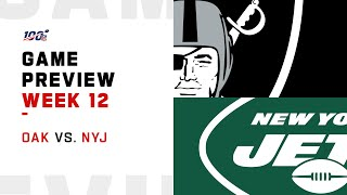 Oakland Raiders vs New York Jets Week 12 NFL Game Preview