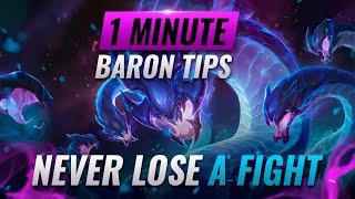 NEVER LOSE AT BARON: 1 Minute Baron Tips & Tricks - League of Legends Season 11 #Shorts