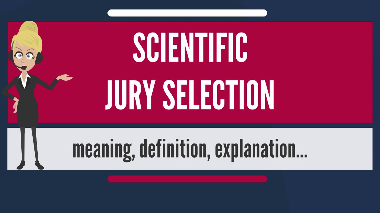 scientific jury selection Scientificjuryselection scientific jury selection scientific jury selection, often abbreviated sjs, is the use of social science techniques and expertise to choose.