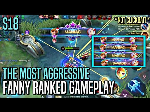 THE MOST AGGRESSIVE FANNY!! | Fanny : RANKED GAMEPLAY