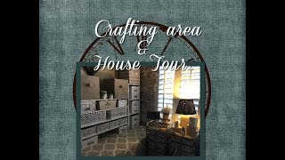 Lets go for a Tour of my House | Crafting Area...
