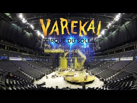 BEHIND THE SCENES:  Watch how we set up for Varekai | Timelapse Stage Setup | Cirque du Soleil