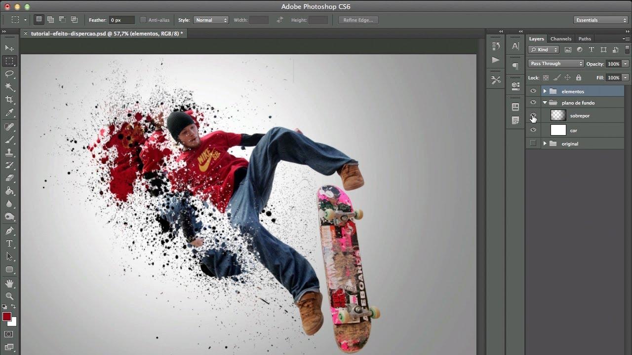 Photoshop CS6 Logo/Efeito/Texto - YouTube