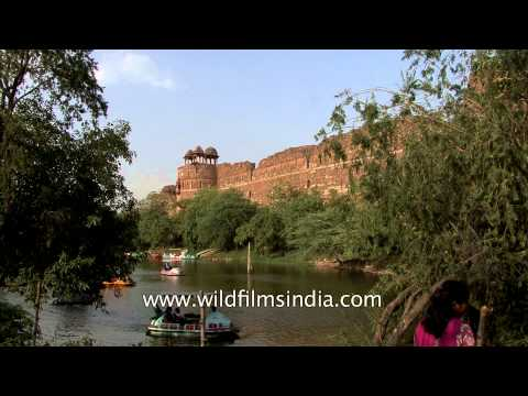 Paddle boats and motor boats at Purana Qila in Delhi