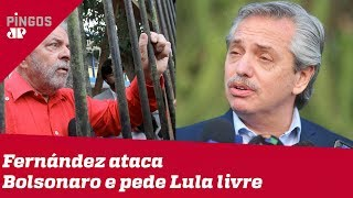 O 'Haddad' de Kirchner ataca Bolsonaro e pede Lula livre