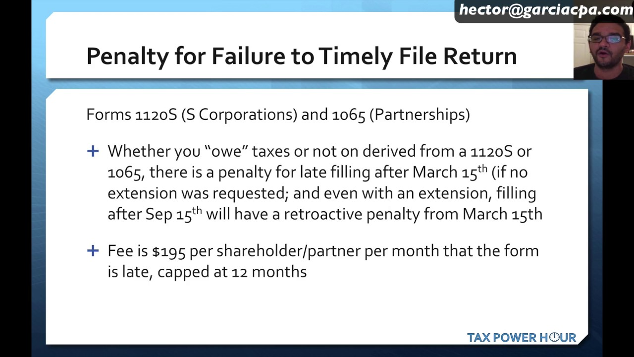 form 1065 penalties  IRS Late Filling and Late Payment explained - Experts in ...