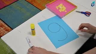 """Урок 21 ноября (часть 2). Вспоминаем букву """"А"""", """"М"""", """"У"""". Цифра 9 своими руками."""
