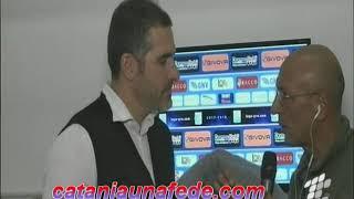 Lucarelli post Catania-Catanzaro 1-0 a Telecolor