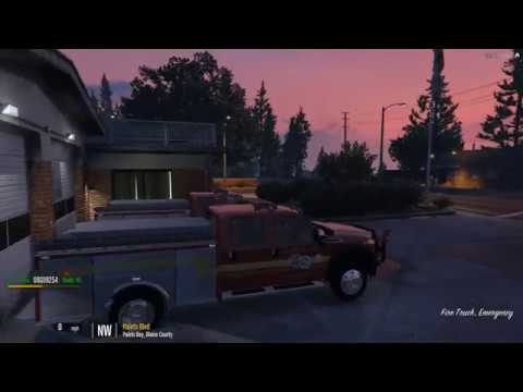 GTA 5 Roleplay LBRP, Brush 50, Large fire at the Lumber Mill(Firefighters)