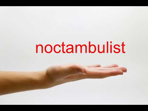 How to Pronounce noctambulist - American English
