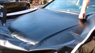 Motorhaube mit Carbonfolie beziehen