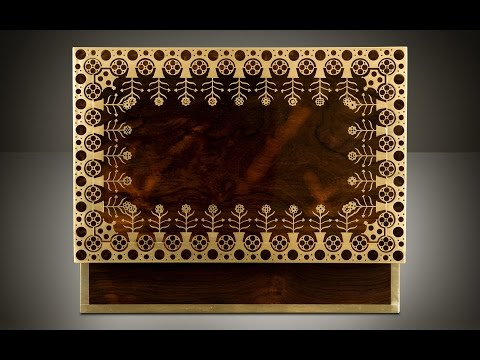 Daniellucian.com - Antique Jewellery Box in Rosewood with Brass Inlay, Attributed to Edwards