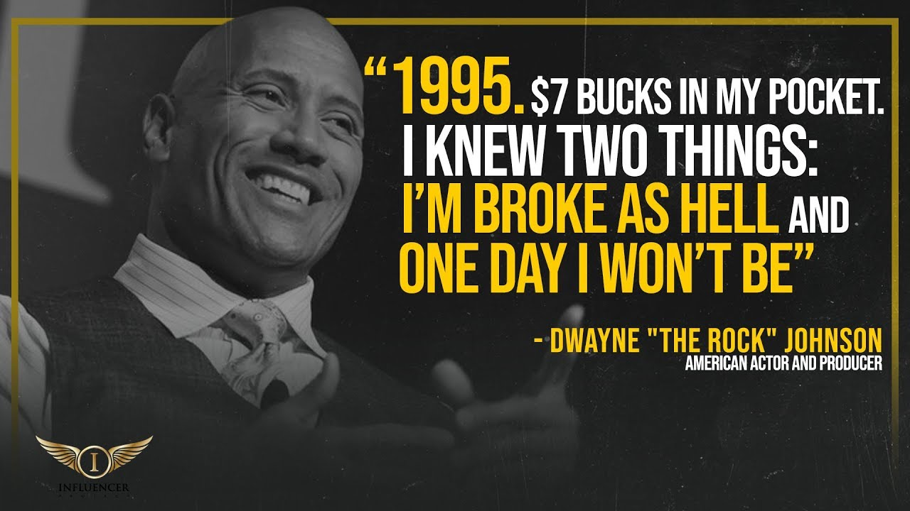 Dwayne Johnson 12 The Rock American Actor Poster Wrestler Motivation Training