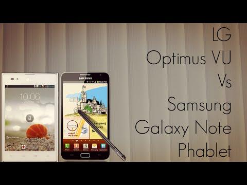 LG Optimus VU Vs Samsung Galaxy Note Phablet Comparison Form Factor Hands-On - PhoneRadar