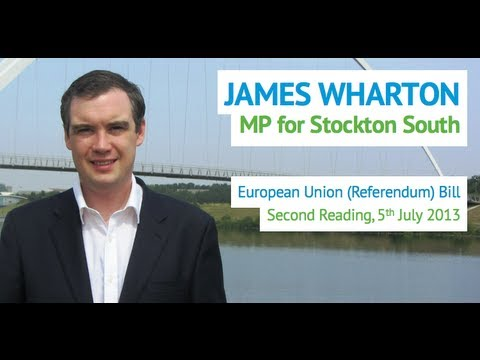 James Wharton MP - EU Referendum Bill - 5 July 2013