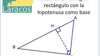 Altura de un triángulo rectángulo con la hipotenusa como base