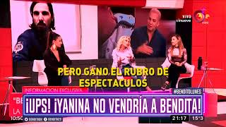 ¡Yanina ya no vendría a Bendita!