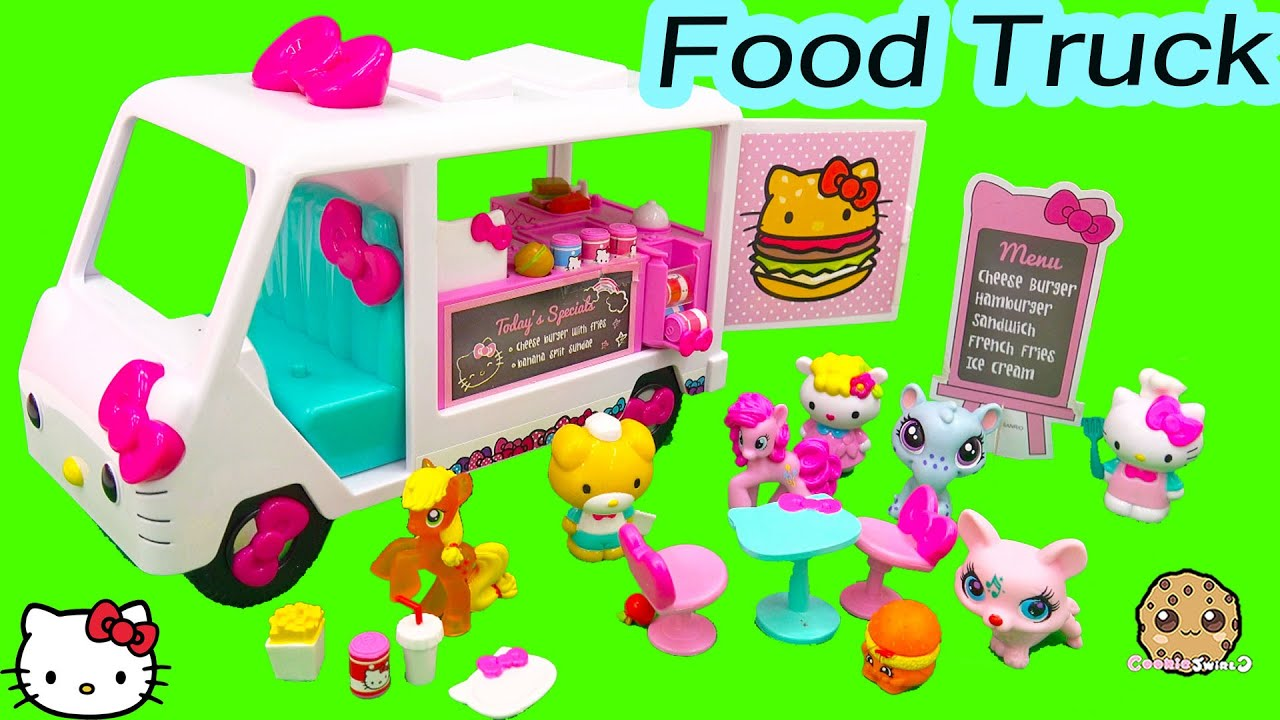 Hello Kitty Toy Food : Hello kitty fast food truck car playset with burger fries