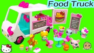 Hello Kitty Fast Food Truck Car Playset with Burger, Fries Toy Unboxing Video Cookieswirlc