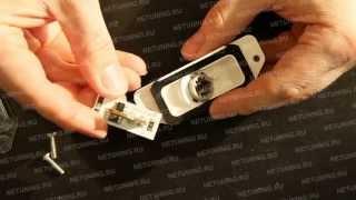 Как установить светодиодную лампу в освещение номера(Видеоинструкция по установке ламп в освещение номера Mitsubishi Lancer X Купить лампы можно по ссылке: https://www.netuning.ru/..., 2013-07-02T07:19:05.000Z)