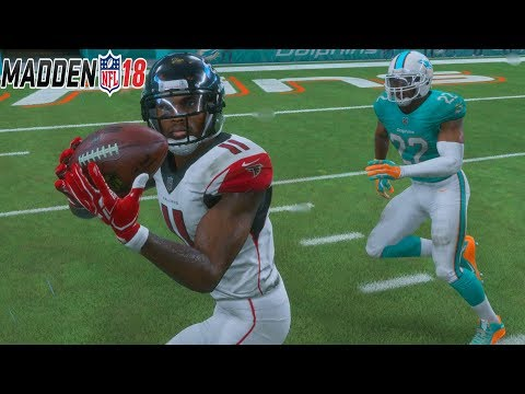 Madden 18 Gameplay Full Game In The Rain - ATLANTA FALCONS vs MIAMI DOLPHINS
