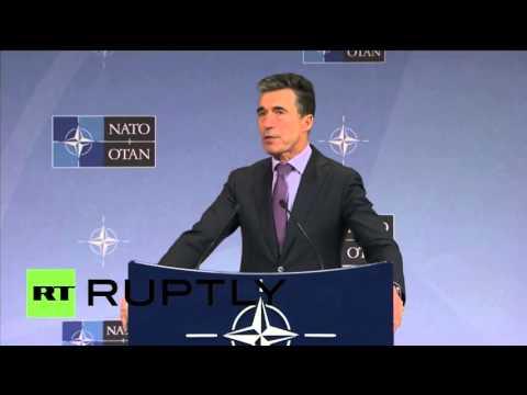 Пресс-конференция генерального секретаря НАТО в Брюсселе