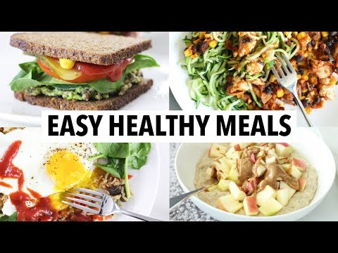 5 QUICK HEALTHY MEALS I EAT EVERY WEEK (Less Than 10 Min) | meal prep, weight loss + healthy ideas