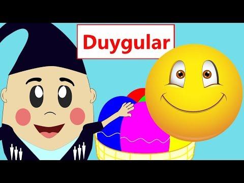 Duyguları Öğreniyorum | Yüz ifadeleri | Okul Öncesi Çocuklar için Türkçe Eğitici Çizgi Filmler