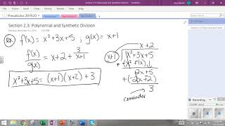 Section 2 3 Long Division Example and Division Algorithm