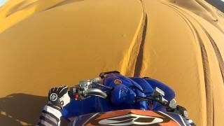 Yamaha raptor flips in the Sahara sand dunes