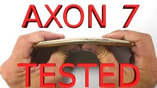 Axon 7 Durability Test - Scratch, Burn, Bend - ZTE