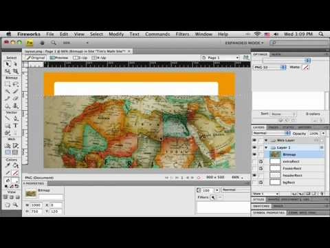 Tutorial about creating a web site layout in Adobe Fireworks CS4