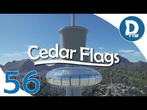 Let's Design Cedar Flags Ep. 56 - Sky Watcher Observation Tower - Planet Coaster