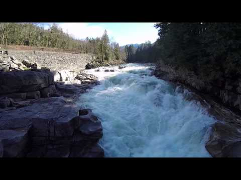 Drone Video of Eagle Falls (Stevens Pass Highway)