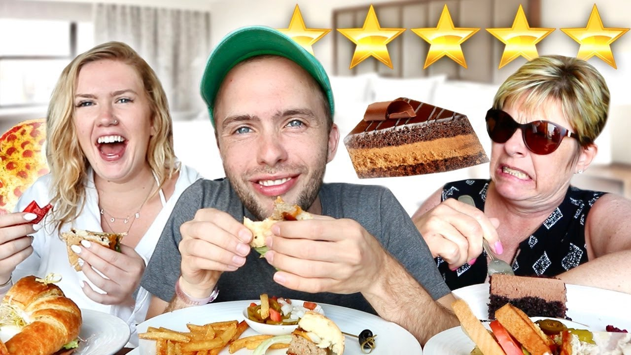 LUXURY *5 STAR HOTEL* ROOM SERVICE MUKBANG with MY SISTER