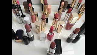 Коллекция помад, вся косметика для губ в одном видео. Loreal, Clinique, Clarins, Estee Lauder
