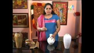 How to do a crackle Pot painting