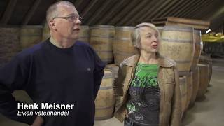 wijnvat te gebruiken als regenton of plantenbak