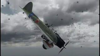 空母対決で翔鶴の九九艦爆がエンタープライズに爆弾命中 東部ソロモン海戦