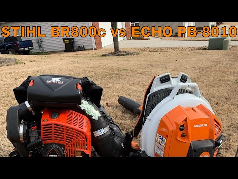 How Does The STIHL BR800c Compare To The ECHO PB 8010