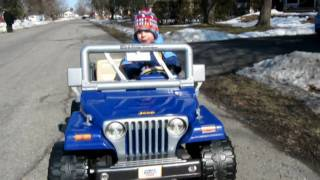 Brendan driving his jeep