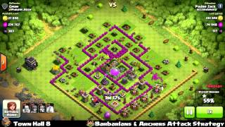 Clash of clans - Town Hall 8 Barbarians & Archers Strategy - 191k loots 479 Dark Elixir - NAZI base!