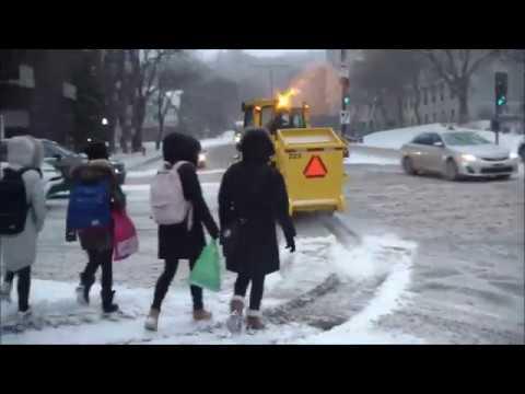 Montreal, 1ere vraie tempete de neige.