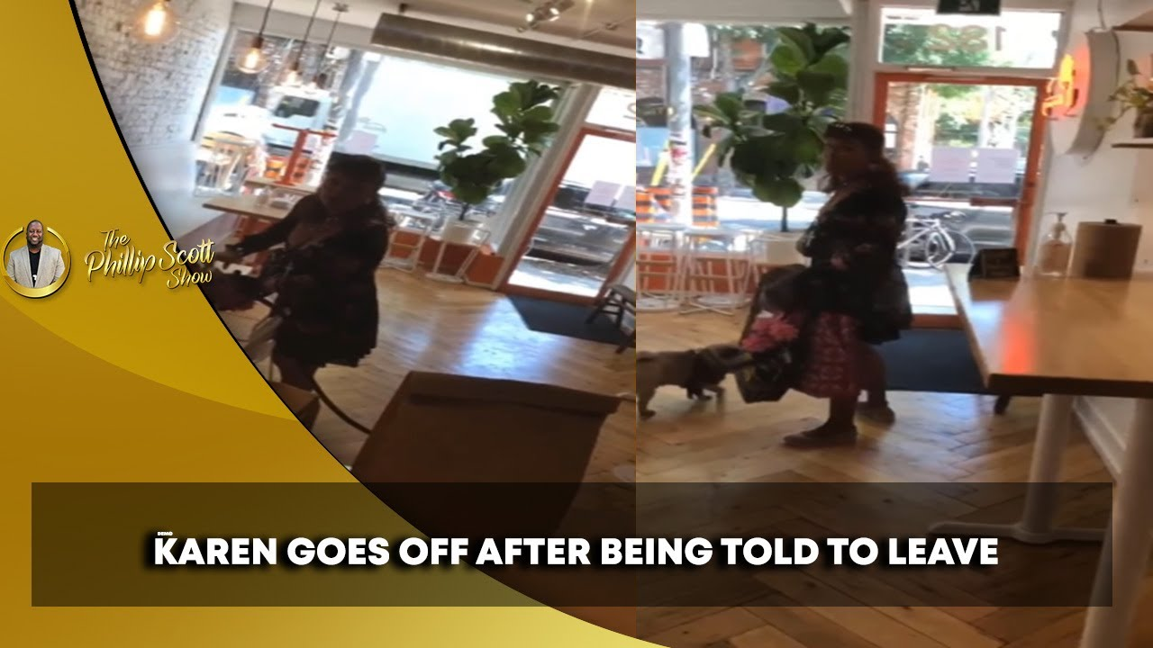 Karen Becomes Upset After Refusing To Wear Mask & Being Told To Remove Non Service Dog In Store
