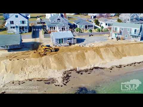 03-01-18 Sandwich, Massachusetts - Aerial & Ground Video- Storm Preparations For Powerful Nor'easter